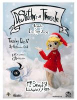 Dr. Sketchy's December Flyer by zoemoss