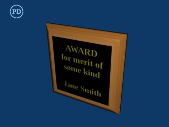 Blender Award Plaque - PD by over2sd