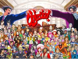 Phoenix Wright Desktop 2 by Chibidoodles
