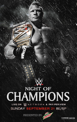 WWE Night Of Champions 2014 poster by Rzr316