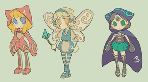 (CLOSE) MAGE GIRL ADOPTABLES by aeternoria