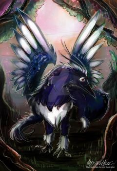 Magpie Dragon by Mad--Munchkin