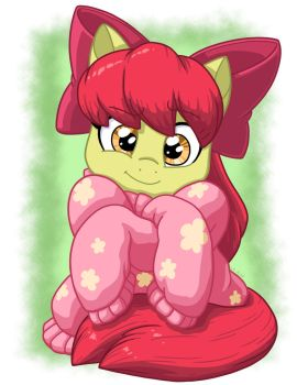 Applebloom in Oversized Sweater by LateCustomer