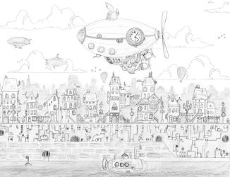 Belle Epoque town by tibots