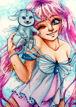 ACEO-Sweet pet by atorife