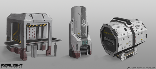 Farlight Explorers - Various prop designs by JoanPiqueLlorens