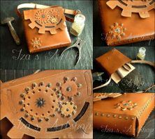 Steampunk Shoulder Bag II by izasartshop