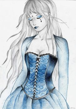 Lady in Blue by Onika-art