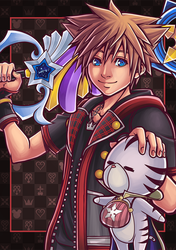 [FANART] Kingdom Hearts III : Sora and Chirithy by ChronosLS