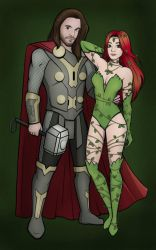 Poison Ivy and Thor by ShahyNaz