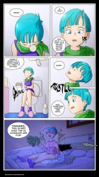 COMMISSION_Bulma comic page censored by SketchMan-DL