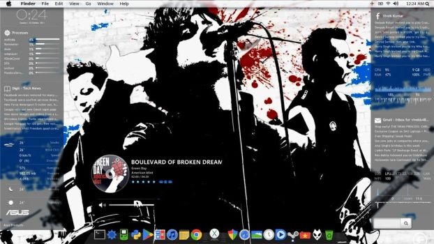 Green Day Desktop by TheLabArtist