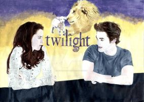 Twilight Acrylic Painting by loveleejubbly