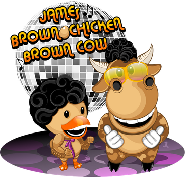 Jamesbrownchickenbrowncow-orig by JCo-Design
