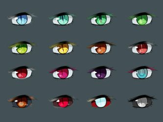 Withdraw: Vampire Eye Types by Chibi-Works