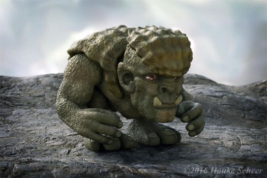 Troll front view by hauke3000