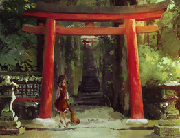Another day at Hakurei Shrine by Ayywa