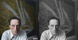 Marcel Duchamp - colorized by jecinci by jecinci