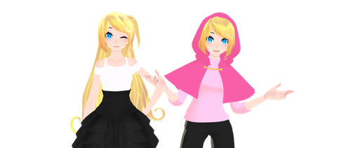 :MMDxFNAFHS Toy chica y Joy DOWNLOAD: by NaokiOsamu