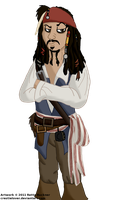 Jack Sparrow by Force-O-Nature