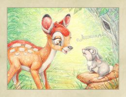 Bambi and Thumper by Jullelin