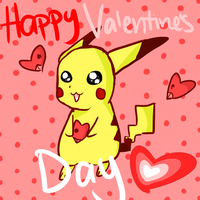 Happy Valentine's Day from Pikachu by bowfanatic