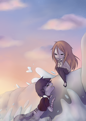 Contest prize: In front of the sea by oOBaka-AdiOo