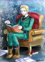 APH Ludwig with book by MaryIL