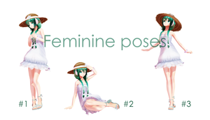 [MMD] Feminine poses [Poses DL] by MinuzNegative
