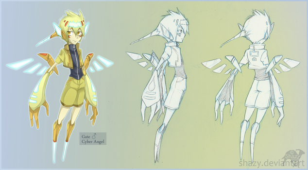 Cyber Angel :concept: by shazy