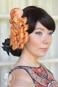Peach Octopus Fascinator by deeed