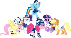 Mane Six Super Bowl Cheer by Jeatz-Axl
