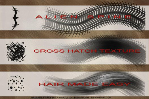 Robs Free Photoshop CC Brushes 2014 by robertmarzullo