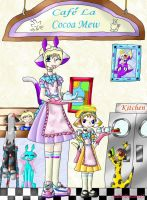 Welcome To Cafe La Cocoa Mew by Crysums