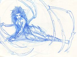 SC2 Queen of Blades lines by michichibi