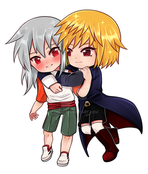 C :: Ein and Sora by Obily