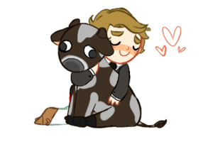 Ryan And Edgar The Cow by SauceMania