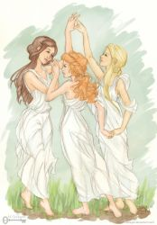 Shadowhunter Chronicles: The Three Graces (Color) by mseregon