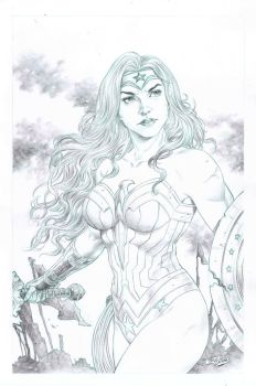 WW pencil pin up,art. Tirso Llaneta by katoti
