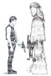 Han Solo and Chewbacca (Pencils) by AshGordon