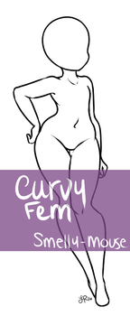 Curvy Fem Base! P2U (Updated!!) by Smelly-Mouse
