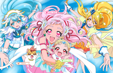 Hugtto Precure group by Benit149
