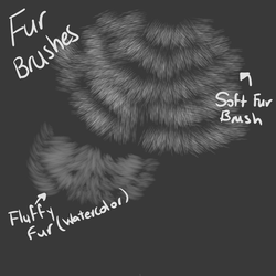 Fur Brushes (FIREALPACA) READ DESCRIPTION! by 18Gingasoldier