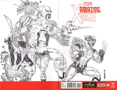 AMAZING XMEN sketch cover by drawhard