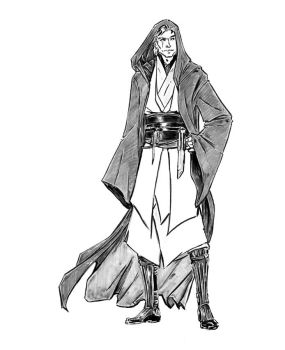 Light Jedi Knight Anakin Skywalker by croaky