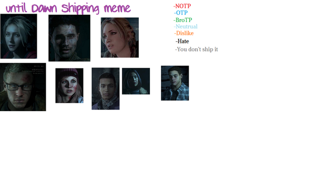 Until dawn shipping meme by MooniGaming
