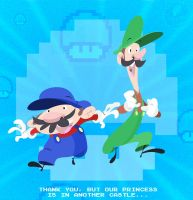 Mario and Luigi by DanSchoening