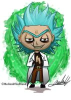 Chibi- Evil Rick (Rick and Morty) by MeLiNaHTheMixed