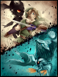 Crossing Twilight - Zelda Twilight Princess by WalkingMelonsAAA