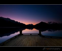 Glenorchy Jetty by mark-flammable